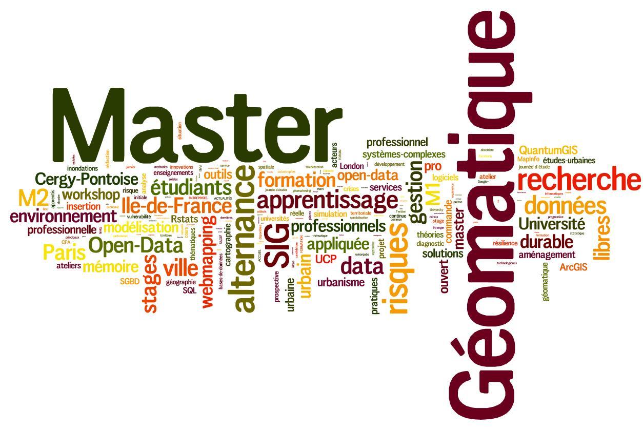 Master Géomatique UCP